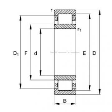 Bearing NU264-EX-TB-M1 FAG