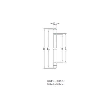 K89312TN SKF Thrust Roller Bearings