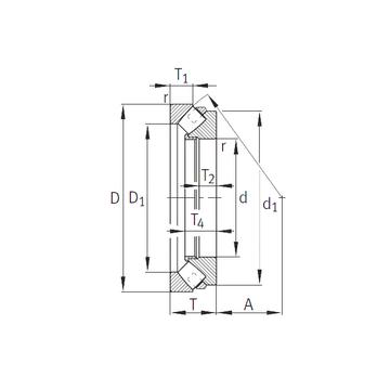 292/1180-E1-MB INA Thrust Roller Bearings