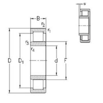 Bearing NU238-E-MPA NKE