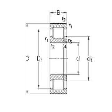 Bearing NUP2214-E-M6 NKE