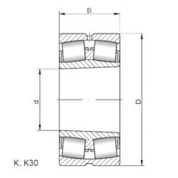 Bearing 23264 KW33 ISO