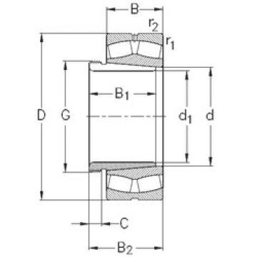 Bearing 239/670-K-MB-W33+AH39/670 NKE