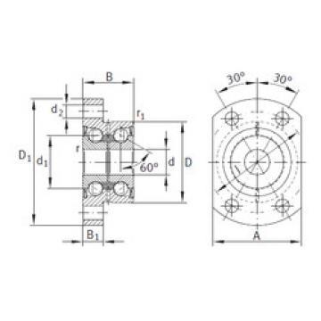 Bearing ZKLFA1563-2RS INA