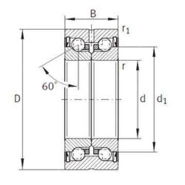 Bearing ZKLN3572-2RS INA