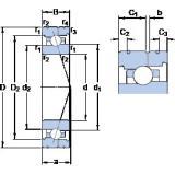 Bearing 7009 ACB/HCP4AL SKF